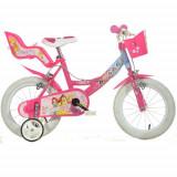 Bicicleta Princess 16 Inch Roz, Dino Bikes