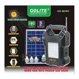 Kit de iluminat solar cu radio FM și MP3 player GDLITE 8050