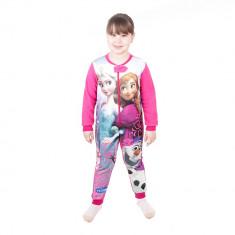 Pijama salopeta fete Frozen roz