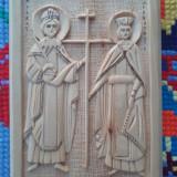 Icoana lemn tei Sf.Constantin si Elena