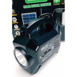 Panou solar kit fotovoltaic 4 becuri radio mp3 USB incarcare telefon GD-8051