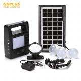 Mini solar generator de energie portabil iluminat cu kit radio GDPLUS GD-8213