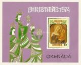 Grenada 1974 - Craciun, colita neuzata