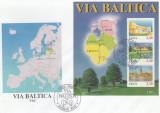 Estonia 1995 - Via Baltica, colita FDC