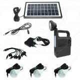 Kit Solar Incarcator Urgente Lanterna si Becuri GdLite GD8033