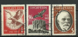 Albania 1962 - independenta, serie stampilata