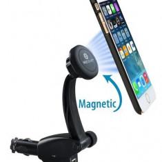 Suport telefon magnetic cu incarcator auto telefon AL-160217-8