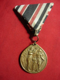 Medalie Militara Germania ww1 1914 R.Weimar in onoarea veteranilor,bronz d=2,1cm
