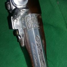 Pistol de epoca/Antic,pat lemn,Arma/pistol vintage bricheta panoplie,T.GRATUIT