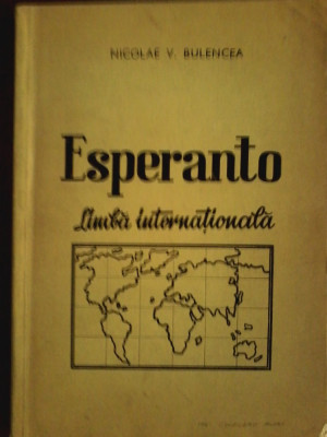 Esperanto limba internationala-studiu analitic-Nicolae V. Bulencea foto