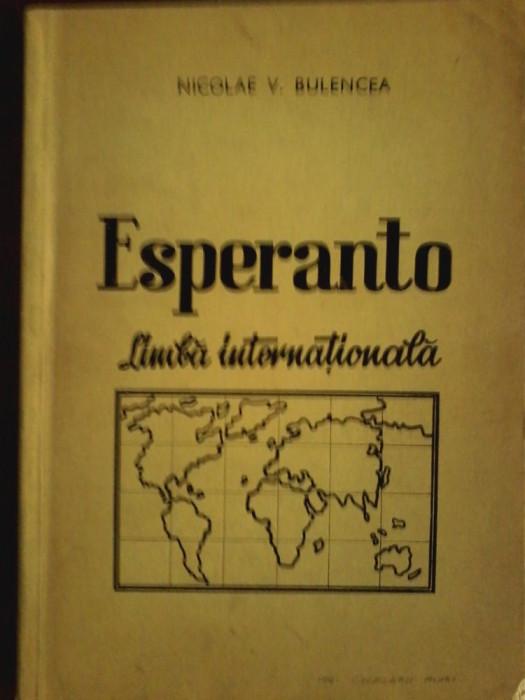 Esperanto limba internationala-studiu analitic-Nicolae V. Bulencea