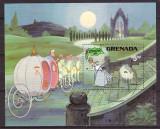 Grenada 1981 - Cinderella-Disney, colita stampilata
