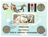 Yemen 1972 - JO Sapporo-medals, colita ndt stampilata