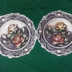 Aplice decorative tip tablou,relief,superbe,buchet de flori,perioada CEAUSISTA