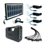 Kit solar multifunctional GD  8017 PLUS Sistem de iluminare solară