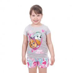 Pijama fete Paw Patrol Pup Heroes cu pantaloni multicolor