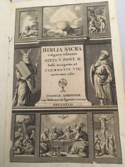 Bible antica Latina 1688 foto