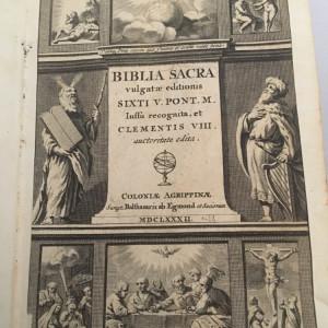 Bible antica Latina 1688