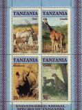 Tanzania 1986 - fauna, bloc neuzat