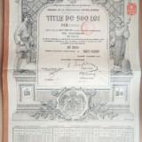 ROMANIA - Datoria Publica 1913 - 500 lei aur 1913 4,5 % Obligatiune de stat, Europa
