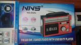 Radio portabil cu USB / SD și lanternă NS-252U, Analog, 0-40 W