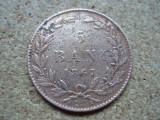 5 bani 1867 Watt, Carol I,  L 2.46, Bronz