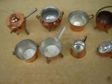 Lot de 8 obiecte decorative confectionate manual din cupru
