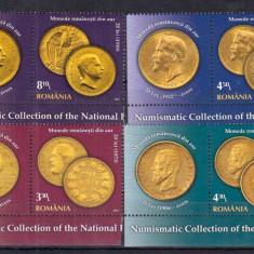 Monede de aur ,serie cu tab neuzata, MNH, L.P. 1989b, 2013, Nestampilat