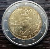 (M770) MONEDA AUSTRIA - 2 EURO 2018, 100 ANI DE LA INFIINTAREA REPUBLICII
