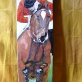 Peste obstacol-pictura ulei pe panza;MacedonLuiza, Animale, Altul