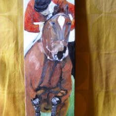 Peste obstacol-pictura ulei pe panza;, Animale, Altul