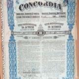 ROMANIA - Concordia - 2500 lei 1924 actiune de 10 titluri  industria petrolifera, Europa