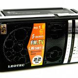 Radio portabil Leotec LT-LW11, 5 benzi, Analog, 0-40 W