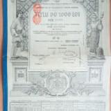 ROMANIA - Datoria Publica 1913 - 1000 lei aur 1913 4,5 % Obligatiune de stat, Europa