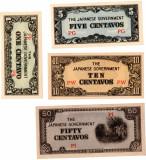 1,5,10,50 Centavos Filipine 1942 UNC