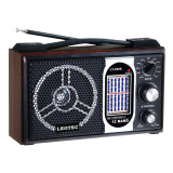 Radio portabil Leotec LT-2008, 12 benzi, model retro, Analog, 0-40 W