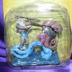 Figurina de plumb - zeul Poseidon  colectie  De Agostini Mythos mitologie greaca