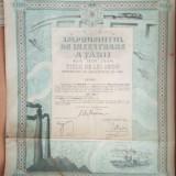 ROMANIA - Imprumutul de Inzestrare 1934  - 1000 lei 1934  4,5 % Obligatiune stat, Europa