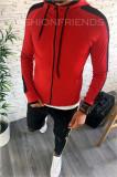 Hanorac barbati rosu - hanorac barbati - hanorac slim fit - cod A2367 12-3, L, M, S, XL, XXL, Bumbac, Din imagine