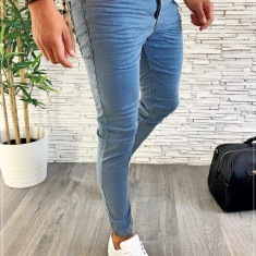 Blugi premium - conici albastri pentru barbati - LICHIDARE DE STOC A2334, 29, 30, 36, 38, Din imagine, Slim Fit