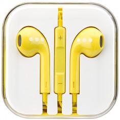 Casti Audio Cu Microfon Galben