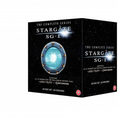 Film Serial Stargate SG-1 - Complete Season 1-10 + The Ark of Truth [DVD], SF, Engleza, independent productions