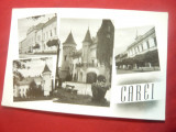 Ilustrata  Carei cu 4 vederi- inceputul anilor '60, Necirculata, Fotografie