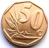 AFRICA DE SUD , 50 CENTS 2008 , PLANTA : PASAREA PARADISULI !!! STEMA CU DIAMANT