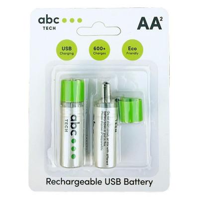 Baterie Reincarcabila Cu USB Tip AA (R6) foto