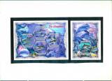 Coasta de Fildes 2018 - FAUNA MARINA - DELFINI - BL + serie ( KB ) - MNH, Nestampilat