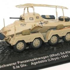 Macheta tanc Schwerer Panzerspahwagen Agedabia - Libya - 1941  scara 1:72