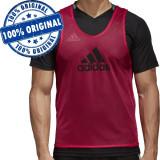 Maiou Adidas Training Bib pentru barbati - maiou original - fotbal - antrenament, L, M, S, Fara maneca, Visiniu