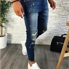 Blugi premium - conici albastri pentru barbati - LICHIDARE DE STOC A2322 G8-3, 29, 31, 32, 36, Din imagine, Slim Fit