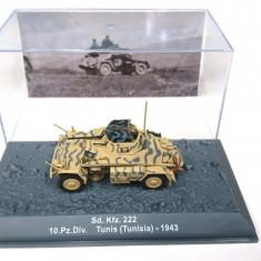 Macheta tanc Sd.Kfz 222 Tunisia - 1943  scara 1:72